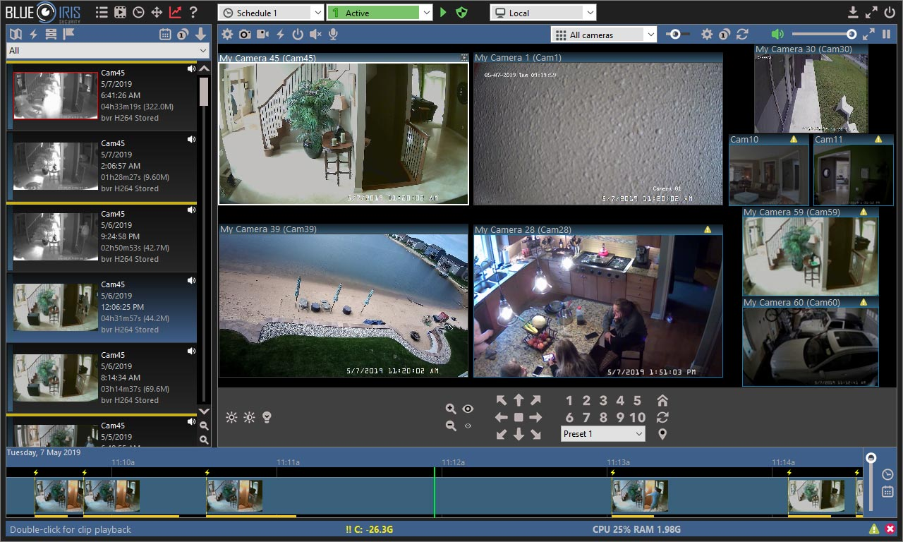 نرم افزار DVR برای کامپیوتر Blue Iris