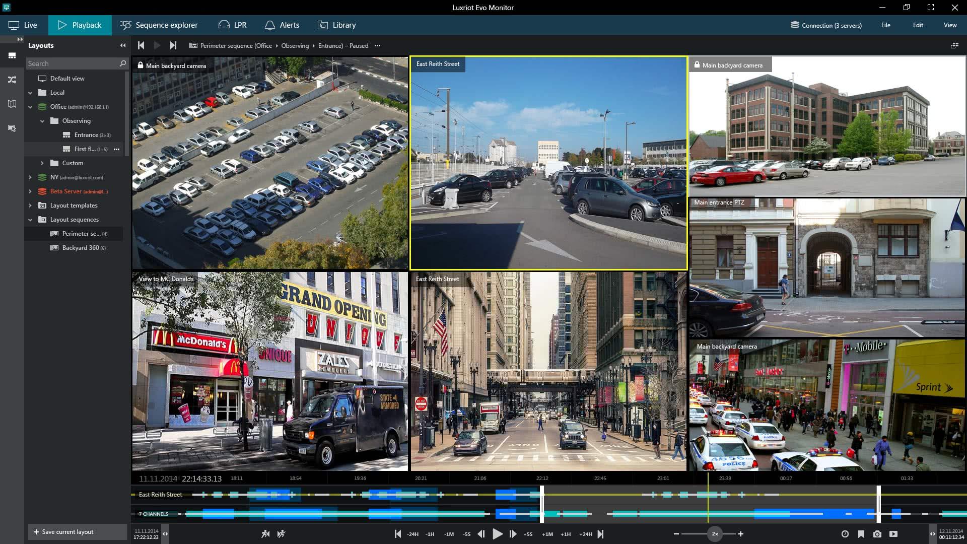 نرم افزار DVR برای کامپیوتر Luxriot EVO
