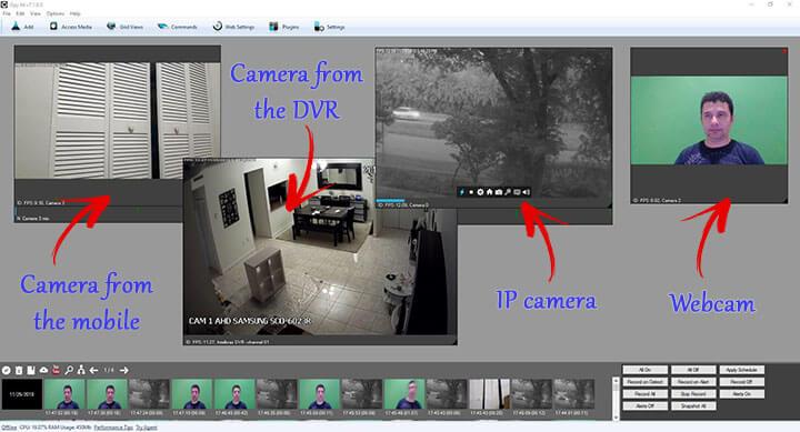 نرم افزار DVR برای کامپیوتر iSpy