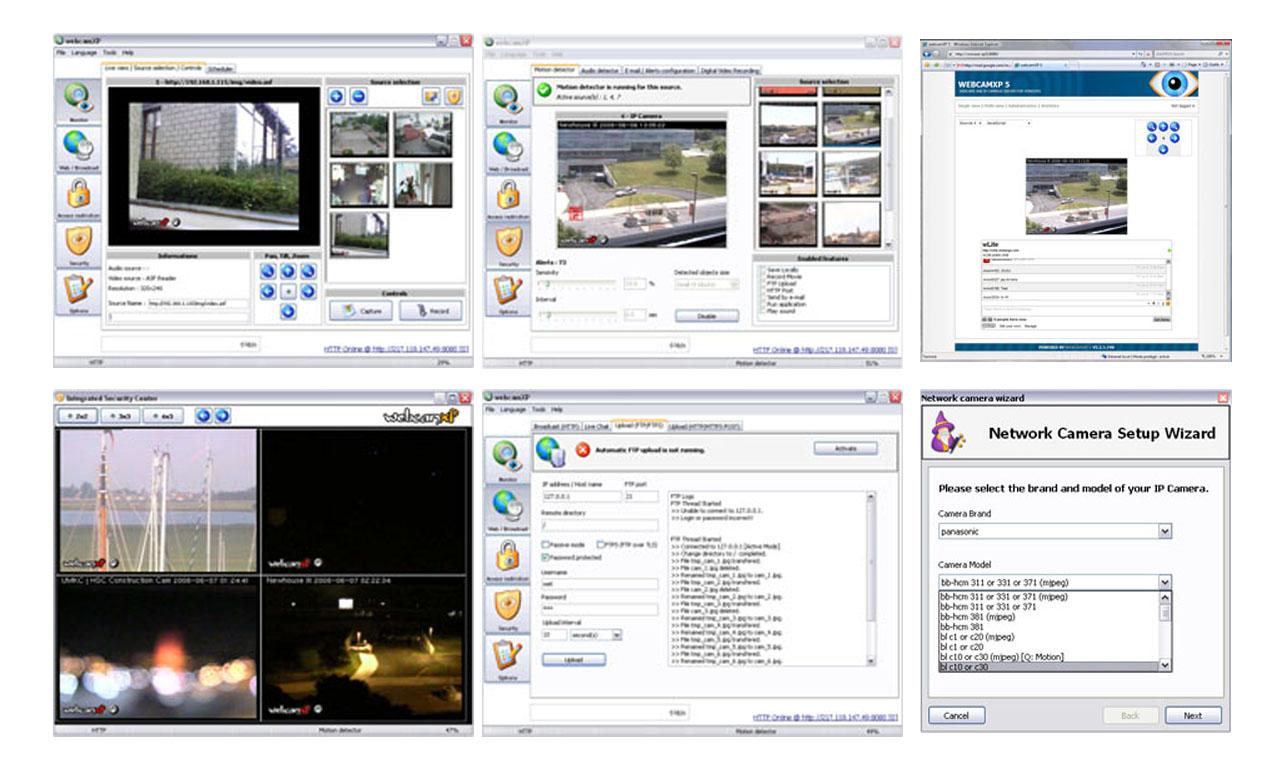 نرم افزار DVR برای کامپیوتر webcamXP